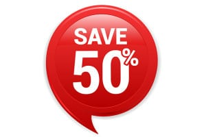 Save up to 50% on training courses